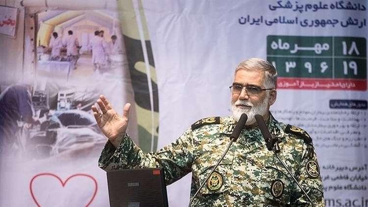 عميد بالجيش الإيراني: نعلم كل ما يجري في القواعد العسكرية بالإمارات ودول الجوار