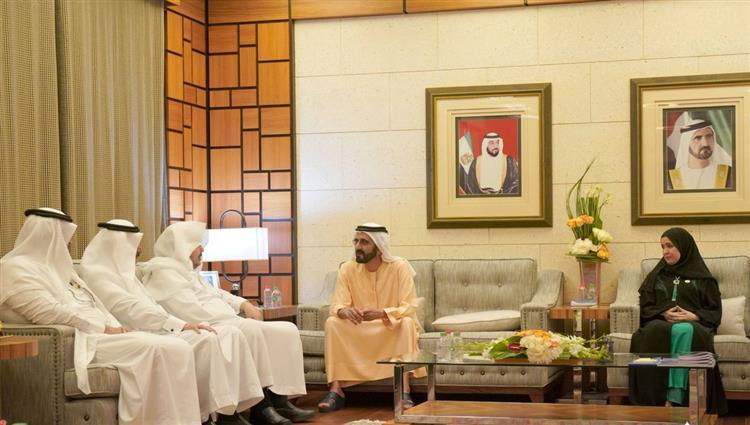 محمد بن راشد يستقبل رئيس مجلس الشورى السعودي.. كيف علق ناشطون؟