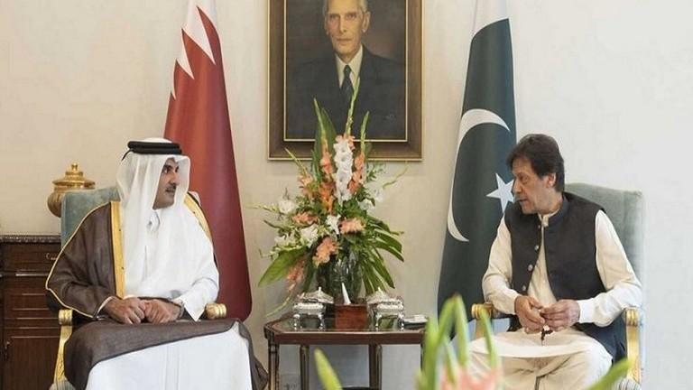 أمير قطر ورئيس وزراء باكستان يبحثان القضايا الإقليمية المشتركة