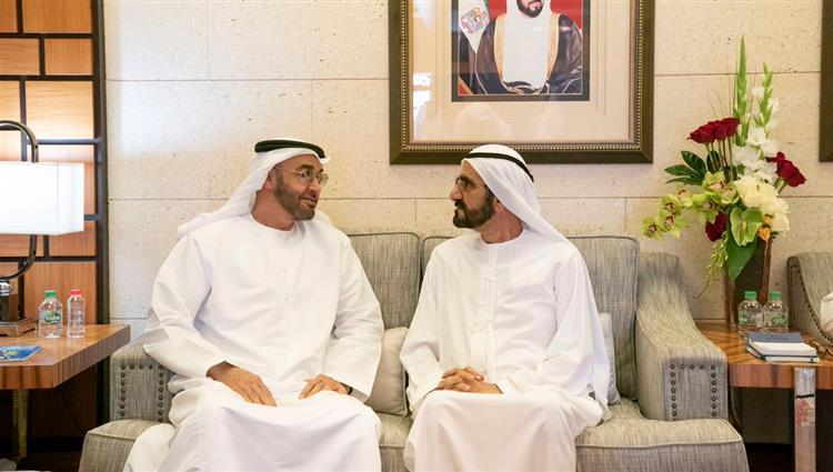 محمد بن راشد يلتقي ولي عهد أبوظبي في دبي