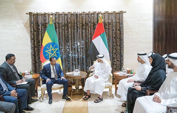 محمد بن زايد: علاقات متطورة بين الإمارات وأثيوبيا