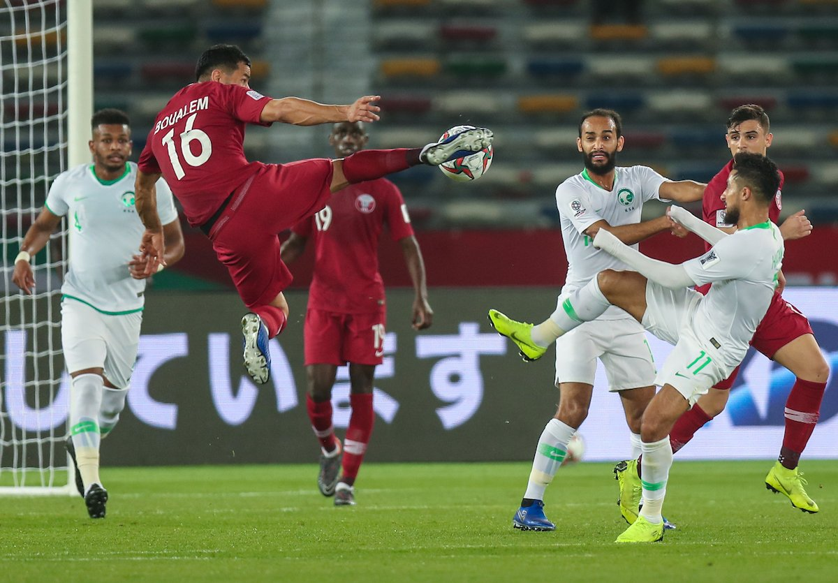قطر تقهر  السعودية بثنائية نظيفة في كأس آسيا