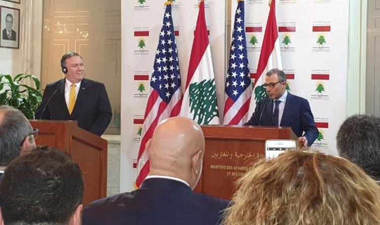 بومبيو من بيروت: قلقون لأنشطة حزب الله المزعزعة للاستقرار