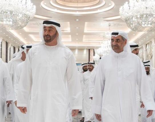 محمد بن زايد يستقبل حاكم الفجيرة في أول لقاء بعد الهجمات