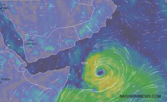 الأرصاد: الدولة لن تتأثر بـإعصار العاصفة المدارية على عمان واليمن