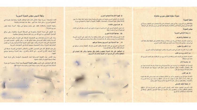 بعلم نظام الأسد.. رعاية إعلامية سعودية لحوار سني- علوي سوري