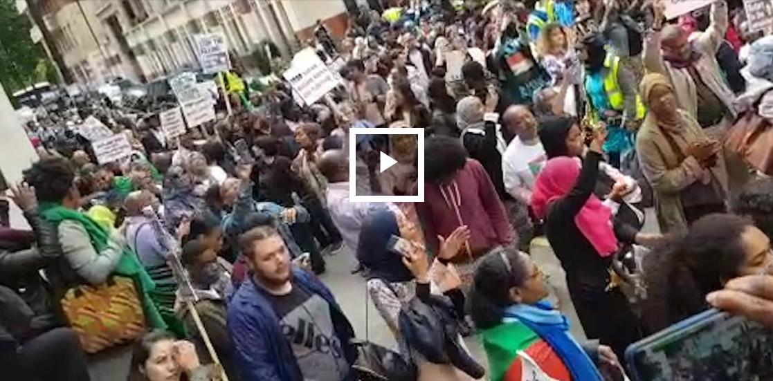 مظاهرات بلندن رفضا لتدخل الإمارات في السودان