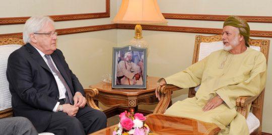 غريفيث يبحث في سلطنة عمان جهود حل الأزمة اليمينة
