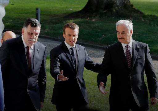 فرنسا تُعلن التزام حفتر توقيعَ اتفاق مشروط لوقف إطلاق النار في ليبيا