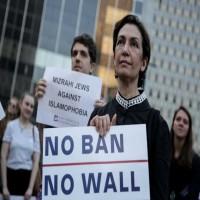 مظاهرة احتجاجية ضد الرئيس الأمريكي ومناهضة لسياساته في نيويورك