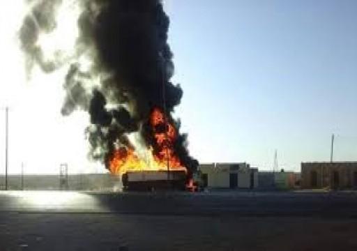 الجيش الليبي يستهدف شاحنة وقود لمليشيات حفتر غربي البلاد