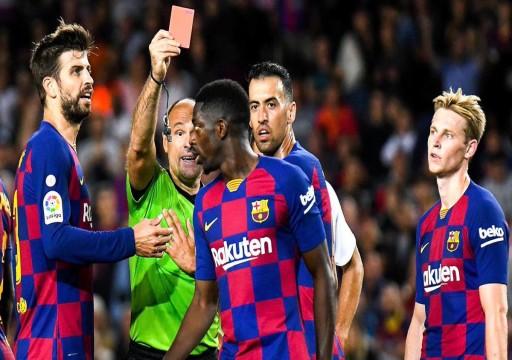 برشلونة يقرر الطعن على قرار إيقاف ديمبلي وأراوخو