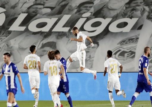 ريال مدريد يقترب من لقب الدوري بعد انتصاره الثامن على التوالي