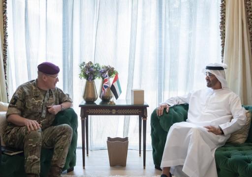 محمد بن زايد يستقبل كبير مستشاري وزارة الدفاع البريطانية