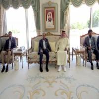 رئيس الدولة يستقبل حاكم عجمان بمقر إقامته في إيفيان