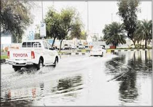 هطول أمطار غزيرة إلى خفيفة على أبوظبي ومناطق في الدولة