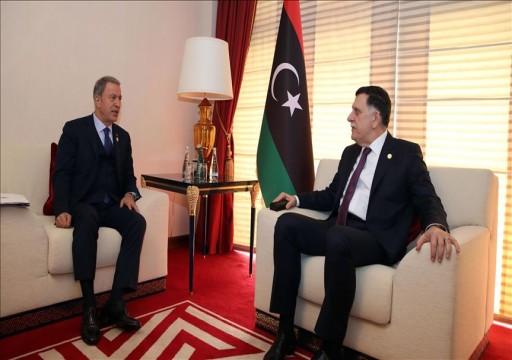 أكار يبحث مع السرّاج في الدوحة مذكرتي التفاهم التركية الليبية