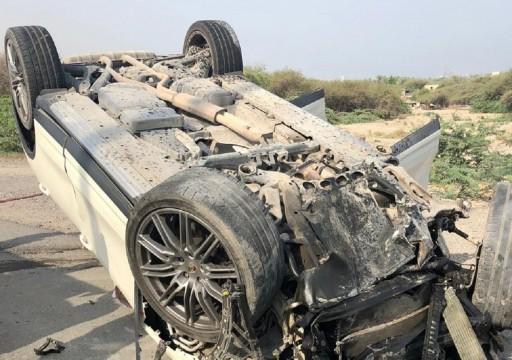 وفاة معلمة مواطنة وإصابة أخرى في حادث تدهور مركبة برأس الخيمة
