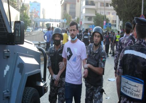 الأمن الأردني يفرق اعتصام المعلمين بالعنف ويعتقل العشرات