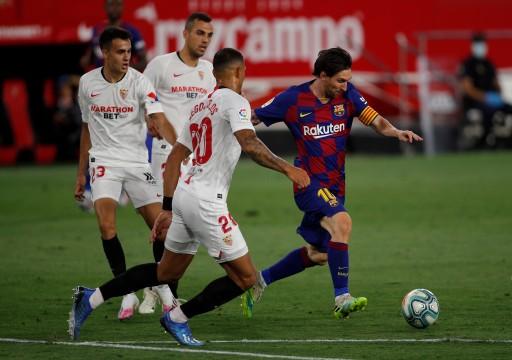 التعادل السلبي يحسم مباراة برشلونة وإشبيلية في الدوري الإسباني