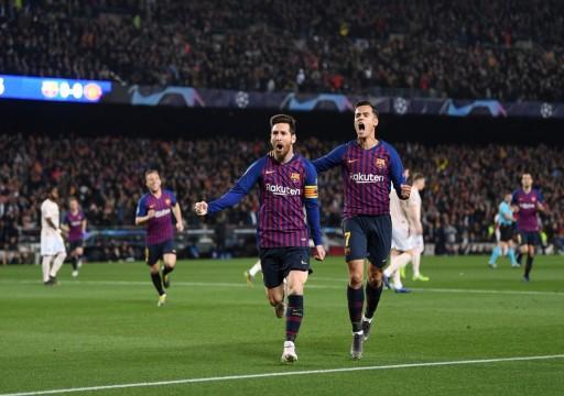 برشلونة يقسو على مانشستر يونايتد ويتأهل لنصف نهائي أبطال أوروبا