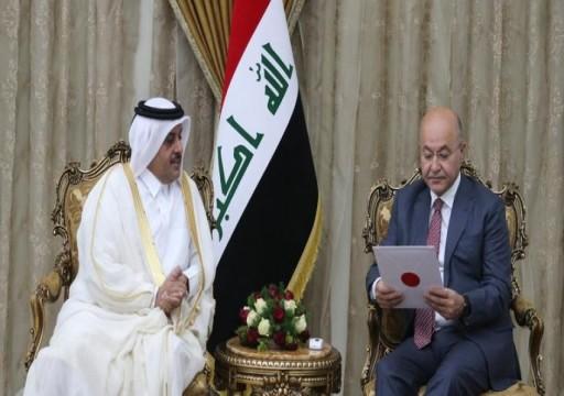 قطر تعلن استعدادها للمساهمة في إعادة إعمار العراق
