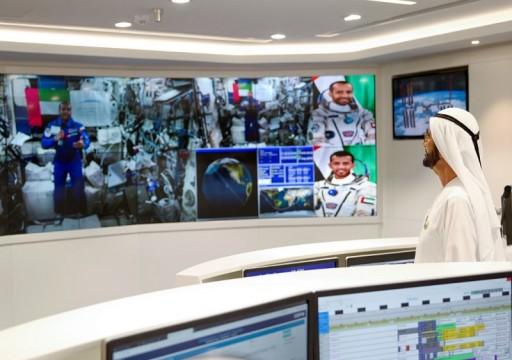 نص مكالمة محمد بن راشد مع هزاع المنصوري من على محطة الفضاء