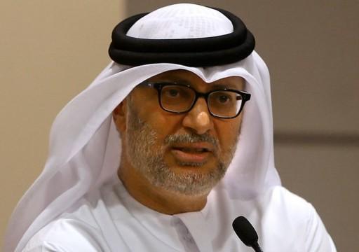قرقاش يدعو إلى تنفيذ فوري لاتفاق الرياض بشأن اليمن