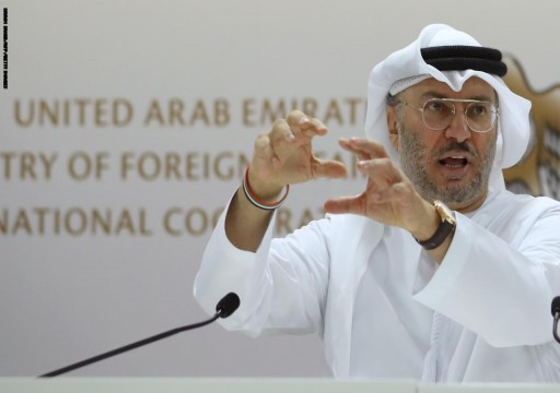 قرقاش يقول إن هناك هجمة إقليمية شرسة على الإمارات ومحمد بن زايد