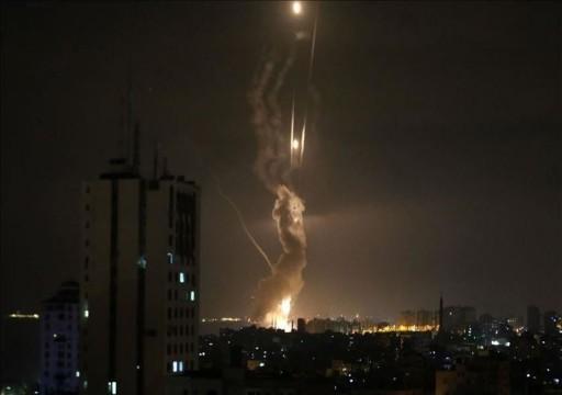 طيران الاحتلال الإسرائيلي يقصف موقعين فلسطينيين بغزة