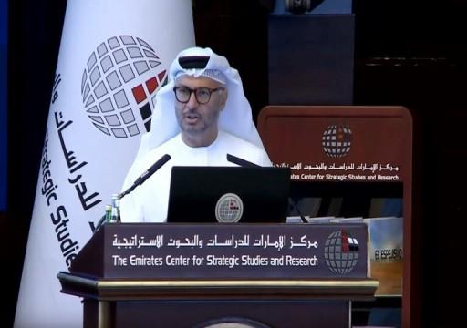 قرقاش: إنهاء أزمة قطر يمر بمعالجة أسبابها