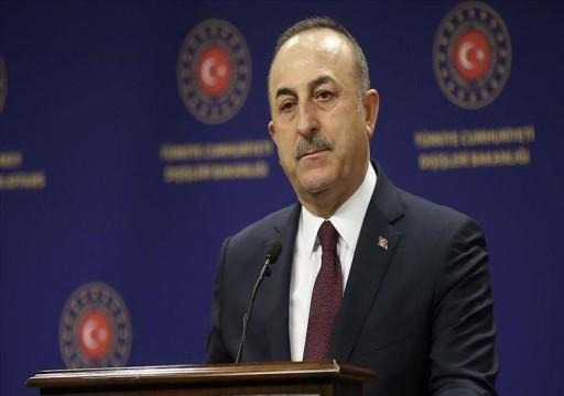 وزير الخارجية التركي يندد بأبوظبي وماكرون والسيسي على خلفية مواقفهم من الملف الليبي