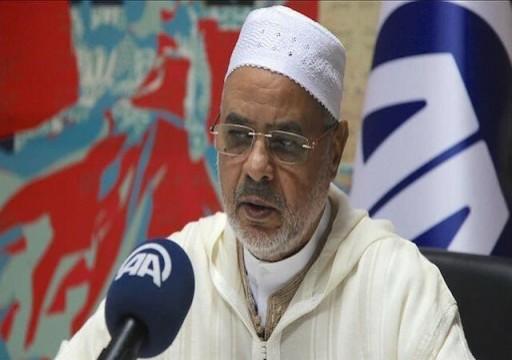 """رئيس اتحاد علماء المسلمين يتحدث عن """"محور شر عربي"""" أبوظبي أحد أضلاعه"""