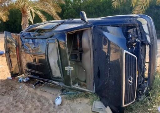 حيوان سائب يتسبب في تدهور سيارة ومقتل أحد ركابها في الشارقة
