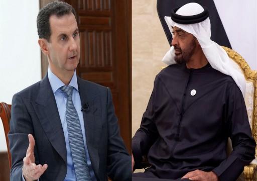 محمد بن زايد يتلقى اتصالاً من الأسد ضمن مساعي إخراج النظام السوري من عزلته السياسية