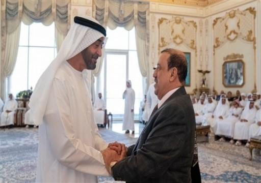 محمد بن زايد يستقبل رئيس مجلس النواب اليمني