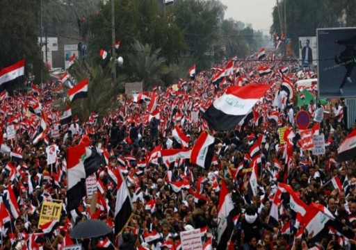 آلاف العراقيين يتظاهرون ضد الوجود العسكري الأمريكي