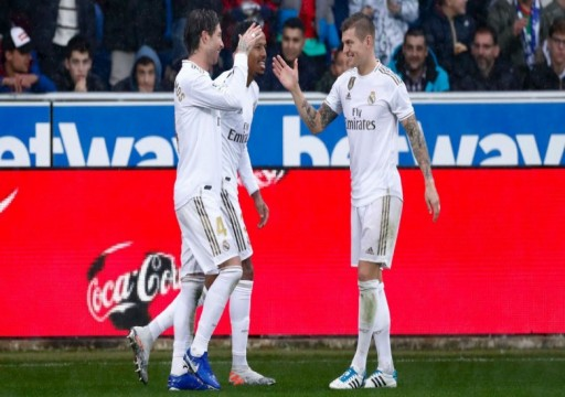 ريال مدريد يتغلب على ألافيس ويرتقي مؤقتاً إلى صدارة الدوي الإسباني