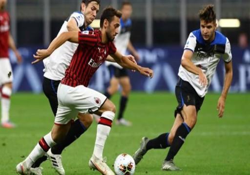أمل أتلانتا في لقب الدوري الإيطالي يتبدد بتعادله مع ميلان
