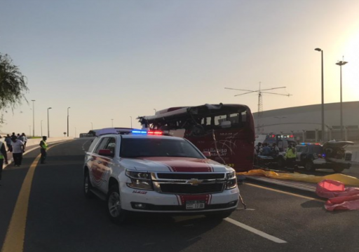 مصرع 17 سائحا بحادث سير مروع في دبي