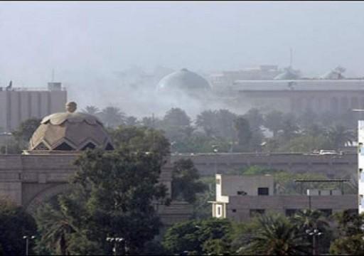 """هجوم صاروخي ثانٍ يستهدف """"المنطقة الخضراء"""" وسط بغداد"""