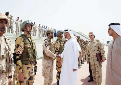 مناورة عسكرية تجمع الإمارات وأمريكا ومصر بالبحر الأحمر