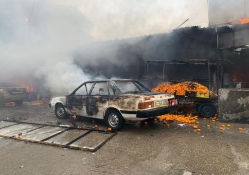 وفاة 9 فلسطينيين و14 إصابة خطيرة في حريق وسط قطاع غزة