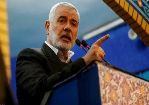 حماس تنفي توتر علاقتها مع مصر بسبب زيارة هنية لإيران