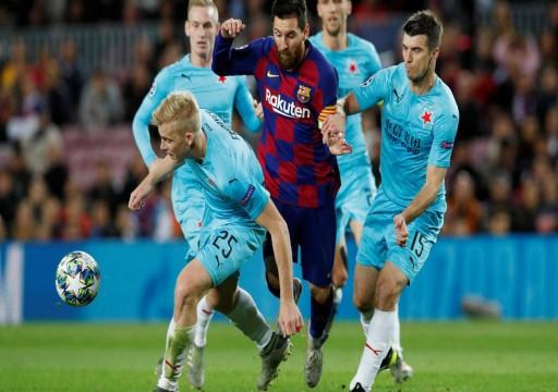 بلا أنياب.. برشلونة يكتفي بالتعادل السلبي مع سلافيا براج