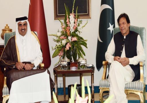 أمير قطر يبحث مع عمران خان تطورات الأحداث في المنطقة