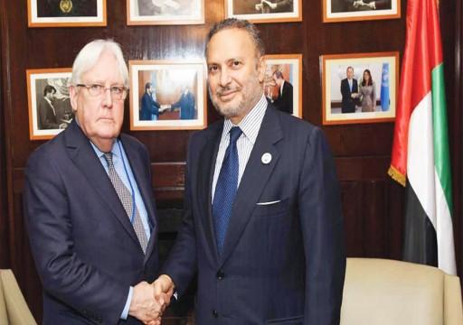 غريفيث يبحث في أبوظبي جهود السلام في اليمن