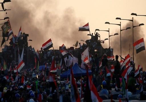 العراقيون يتدفقون إلى الشوارع للمشاركة في أكبر احتجاج