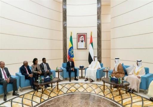 محمد بن زايد يبحث تعزيز العلاقات مع رئيس وزراء إثيوبيا
