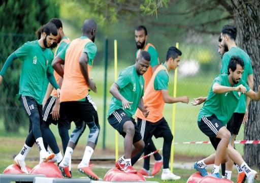 منتخبنا الوطني يتدرب استعداداً لدوري الـ16 من البطولة الآسيوية